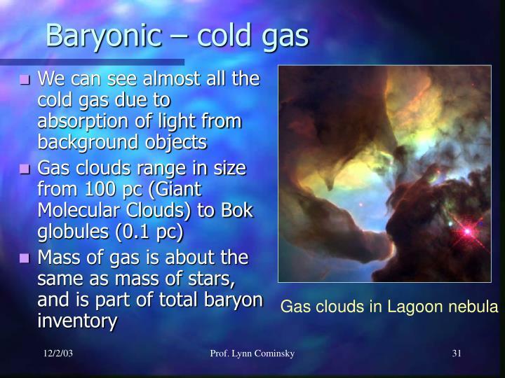 Gas clouds in Lagoon nebula