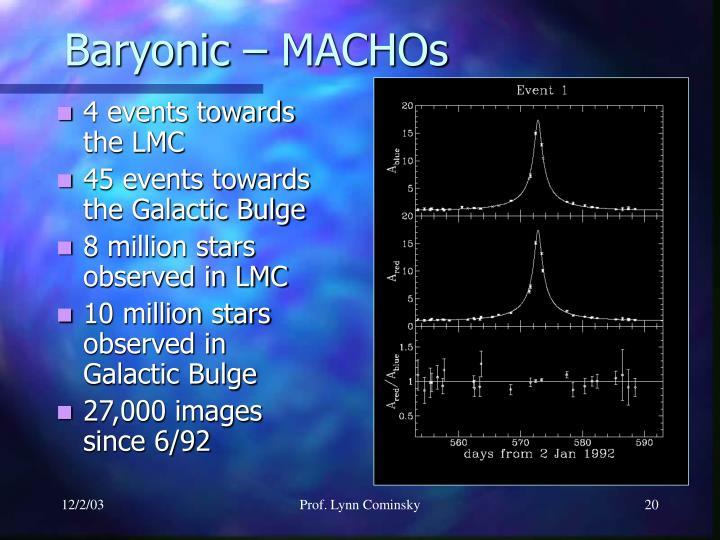 Baryonic – MACHOs