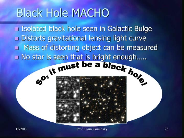 So, it must be a black hole!