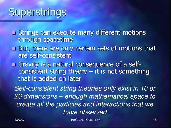 Superstrings