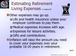 estimating retirement living expenses1