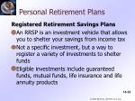 personal retirement plans