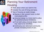 planning your retirement housing
