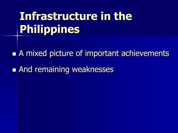 Infrastructure in the philippines