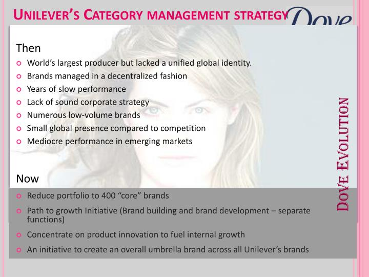 unilever product category management