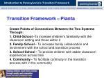 transition framework pianta