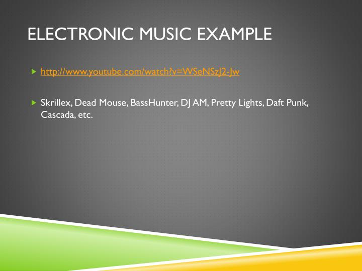 Electronic Music Example