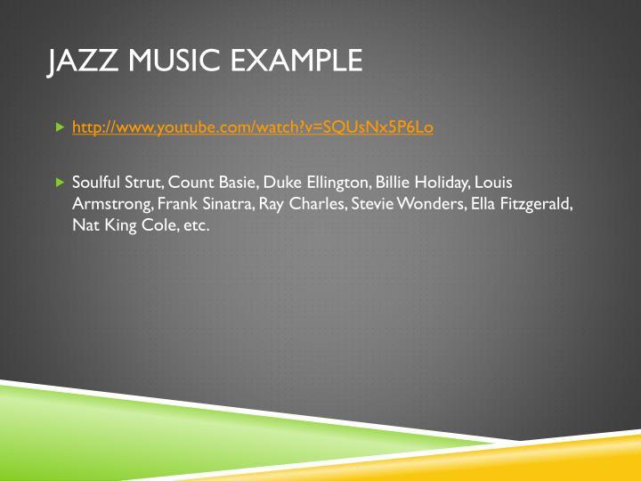 Jazz Music Example
