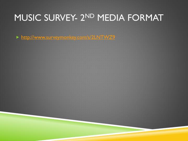 Music Survey- 2