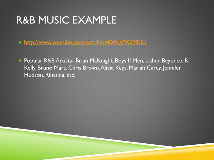 R&B Music Example