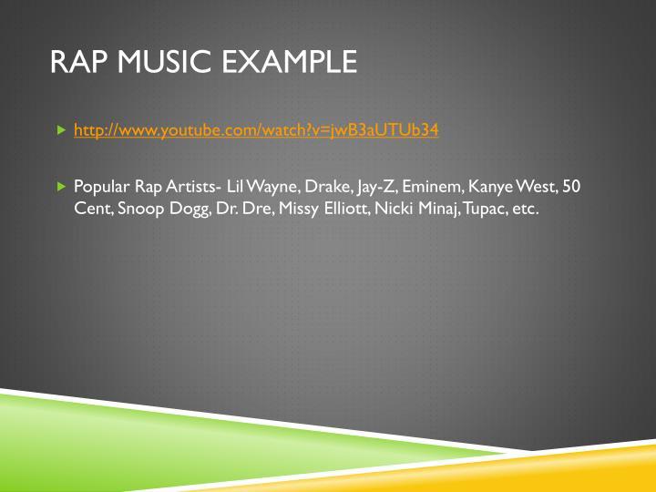 Rap Music Example