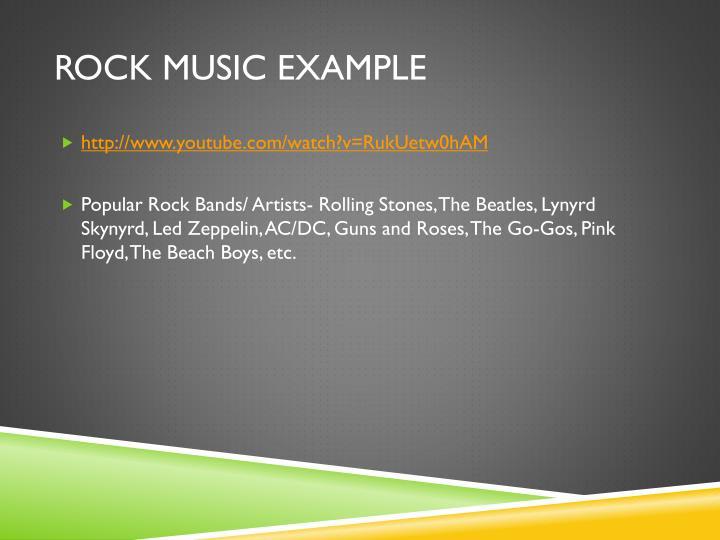 Rock Music Example