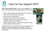 how can you support hfg1