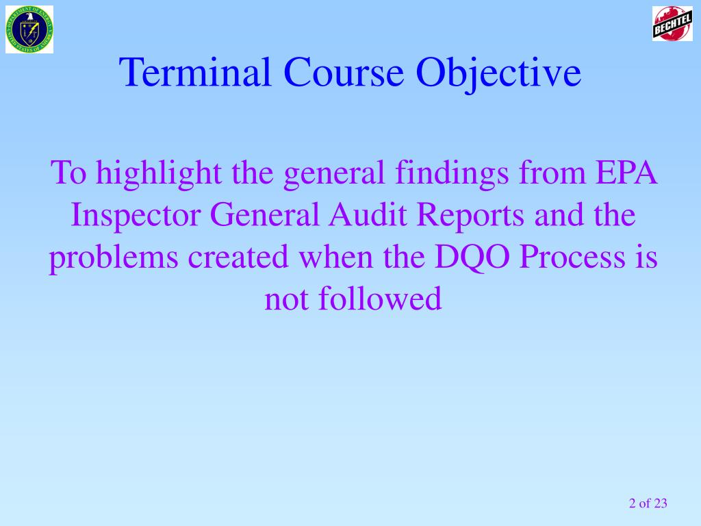 PPT - EPA Inspector General Audit Reports PowerPoint