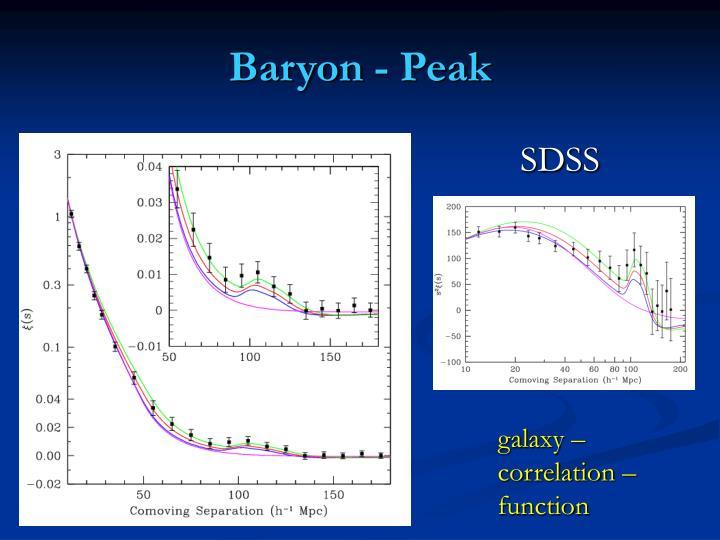 Baryon - Peak