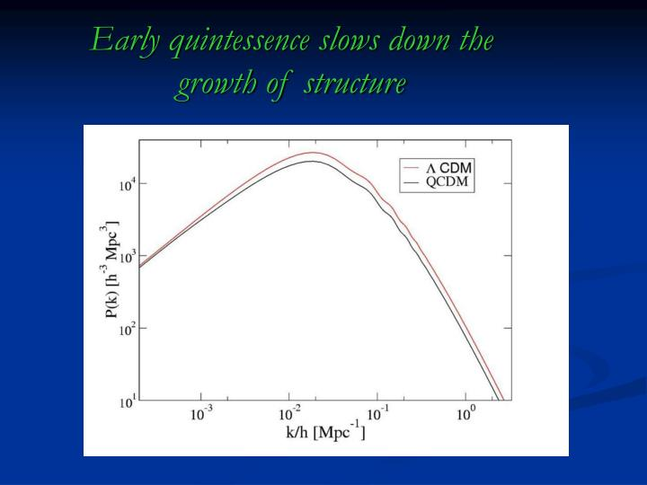 Early quintessence slows down the
