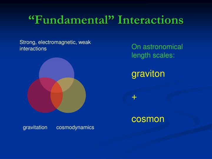 """Fundamental"" Interactions"
