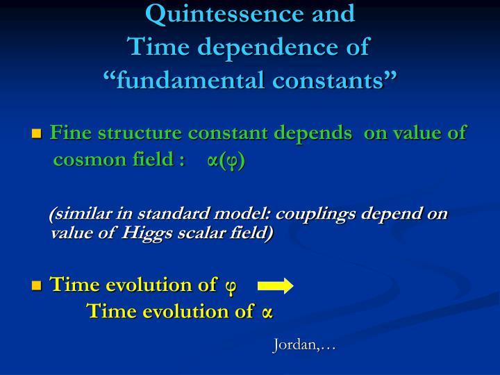 Quintessence and