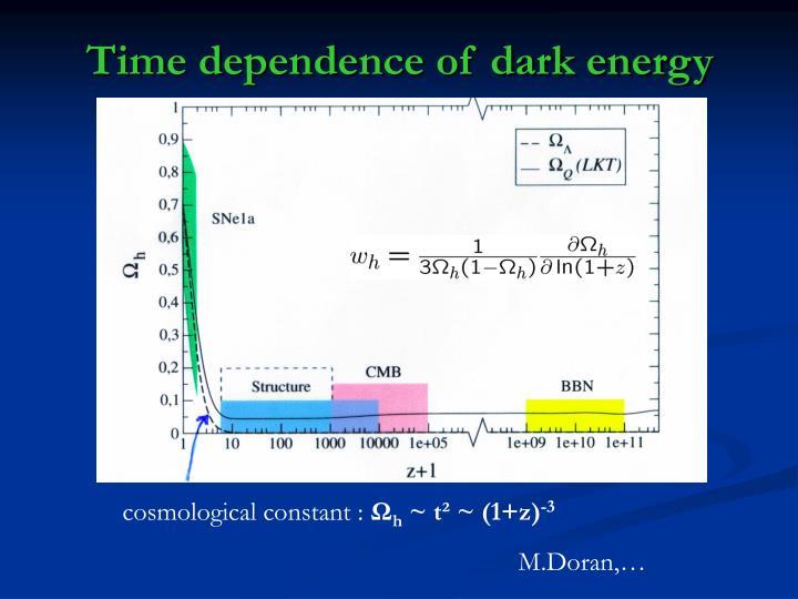 Time dependence of dark energy