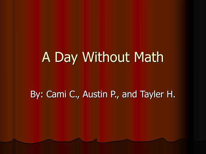 a day without math n.