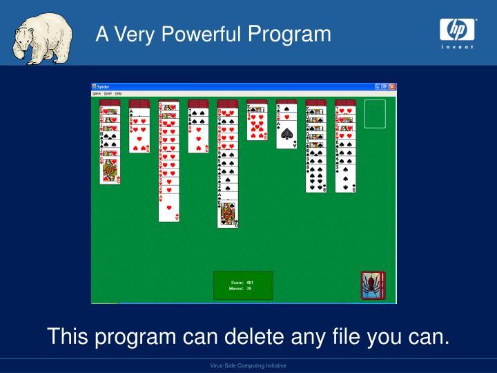 A very powerful program