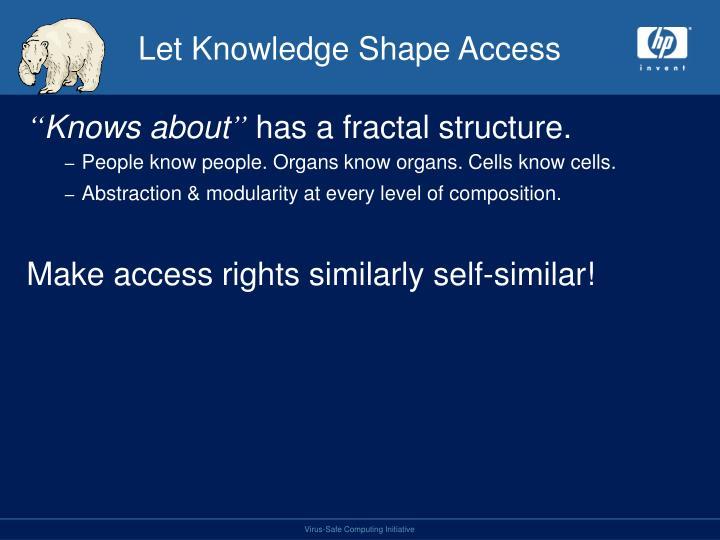 Let Knowledge Shape Access
