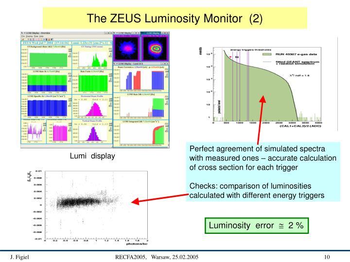 The ZEUS Luminosity Monitor  (2)