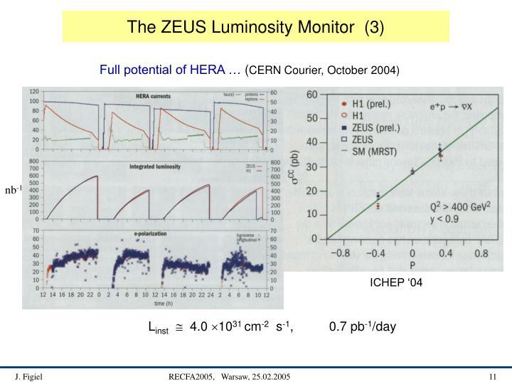 The ZEUS Luminosity Monitor  (3)