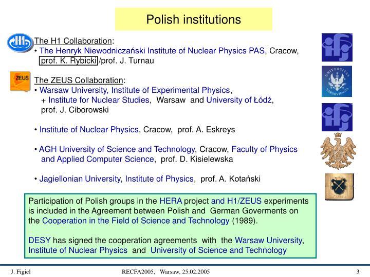 Polish institutions