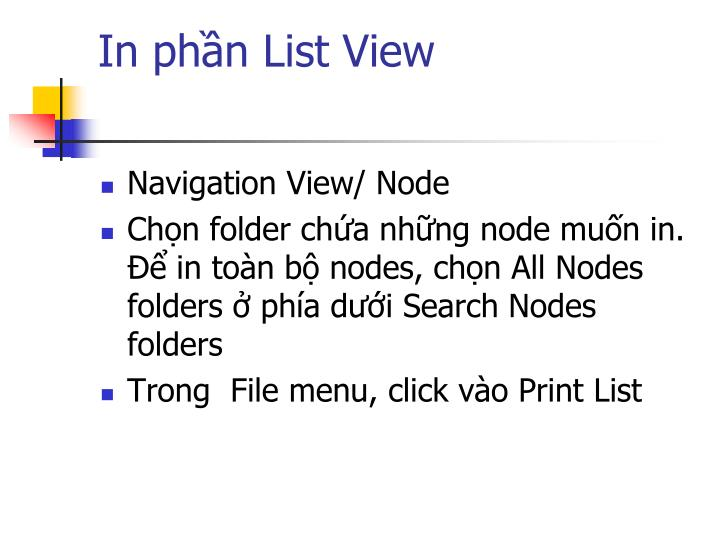 In phần List View