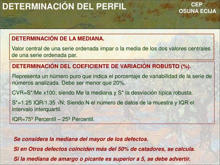 DETERMINACIÓN DEL PERFIL