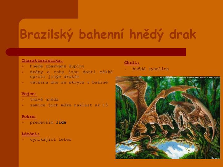 Brazilsk bahenn hn d drak
