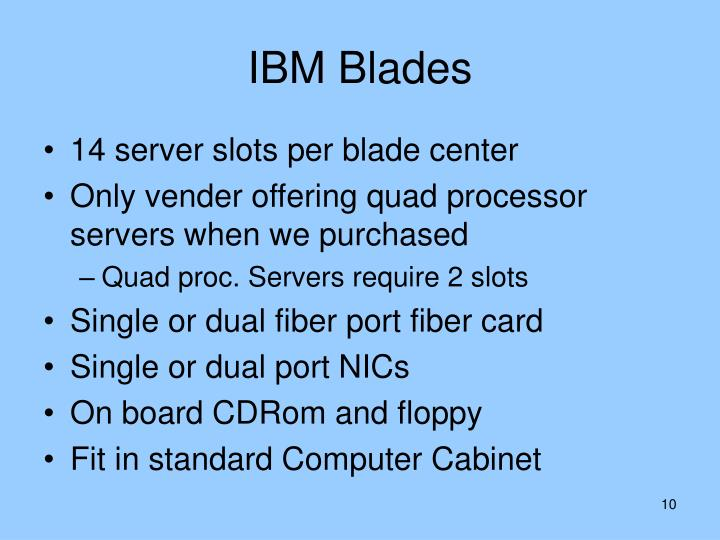 IBM Blades