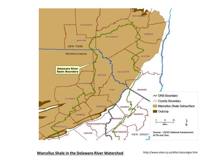 Marcellus Shale in the Delaware River Watershed