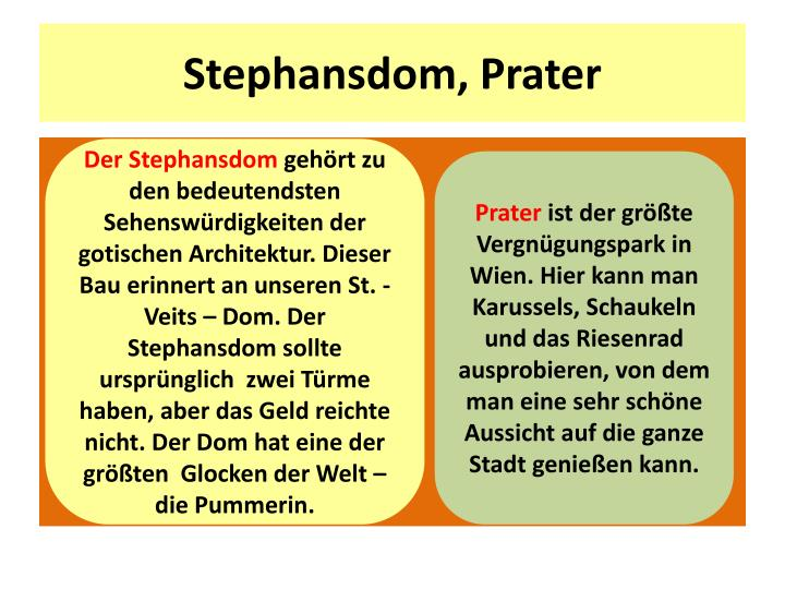 Stephansdom, Prater
