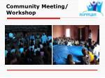 community meeting workshop