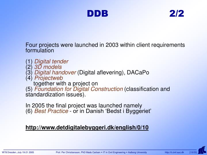 DDB                    2/2