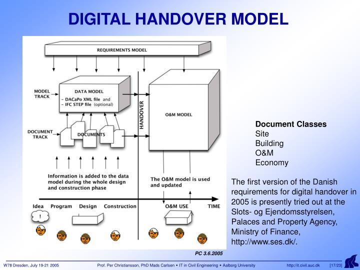DIGITAL HANDOVER MODEL