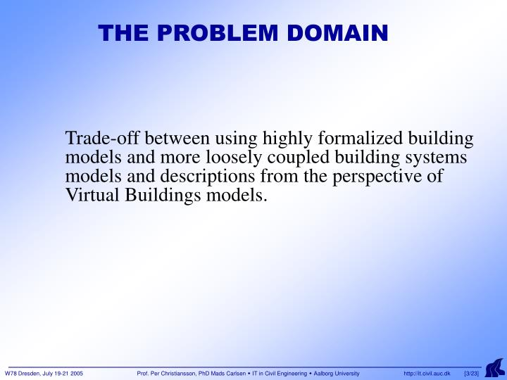 The problem domain