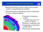 conclusions and future developments