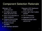 component selection rationale3