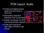 pcb layout audio