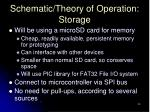 schematic theory of operation storage
