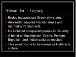alexander s legacy1