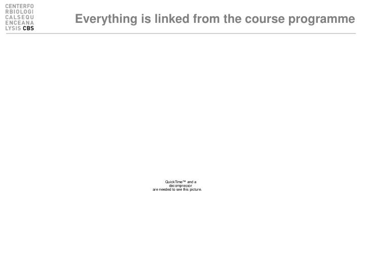 Everything is linked from the course programme