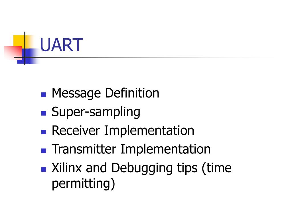PPT - Project Check-off 2 UART Design PowerPoint Presentation - ID