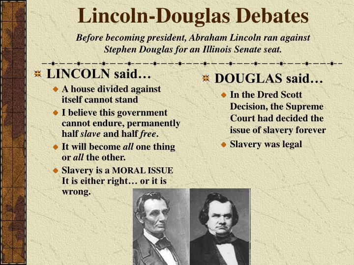 lincoln douglas debate thesis Today my partner and i will prove that [stance from your thesis] lincoln douglas debate case outline affirmative / negative [circle one] title.