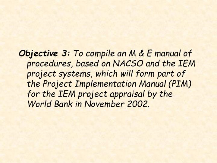 Objective 3: