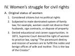 iv women s struggle for civil rights