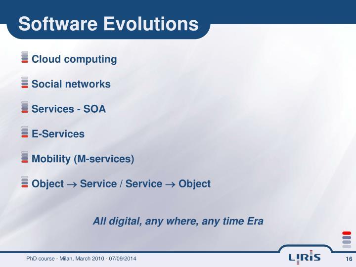 Software Evolutions